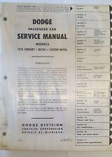Werkstatthandbuch / Shop manual Dodge Coronet, Royal & Custom Royal 1958