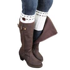 Women Girls Fashion 1Pair Knitted Leg Warmers Beautiful Socks Boot Cover