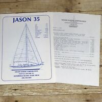 Vintage Sailboat Dealer Sales Brochure Jason 35 1983 Price List Yacht Boating