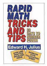 NEW Rapid Math Tricks & Tips: 30 Days to Number Power by Edward H. Julius