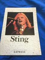 Sting Japan tour promo book 1988 not for sale item message in the bottle police
