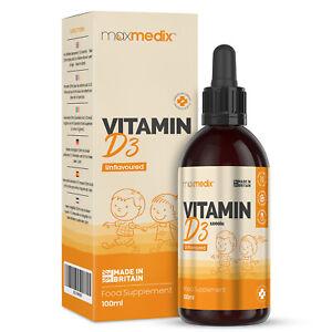 Baby Drops Vitamin D3 Liquid for Kids 1000iu | Immune Support Supplement 100ml