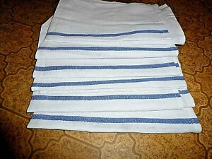 Kitchen Chef  Rag Towel Herringbone Weave Lint Free 100% Cotton Set of 6