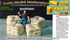 STACKS 'O SACKS-On Ground (4pcs) Scale Model Masterpieces HOn3 Fine Craftsman