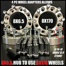 8X6.5 TO 8X170 WHEEL ADAPTERS 9/16-18 LUGS PUT FORD WHEELS ON DODGE 1.5 INCH