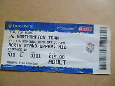 Ticket- LEEDS UNITED v NORTHAMPTON TOWN, FA Cup 1st Round, 7th November 2008