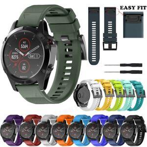 Quick 22/26MM Silicone Wrist Band Strap Bracelet For Garmin Fenix 5 5X 6 X Watch