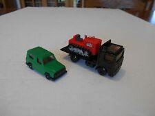 1981 Matchbox 1:90 Volvo Flatbed Transport w/Bulldozer & Car, Ho Train Accessory