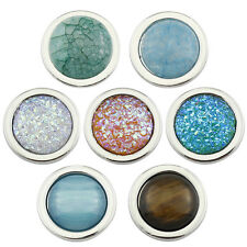 25mm Natural Stone Glass Coin Disc for Locket Keeper Pendant Necklace & Bangles