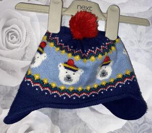 Boys Age 1-2 Years - Mini Boden Winter Hat