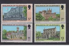 GUERNSEY 1976 CHRISTMAS BUILDINGS STAMP SET MNH SG 145-148