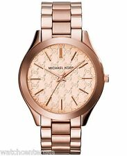 Michael Kors Women's Slim Runway Rose Gold-Tone Watch 42mm MK3336