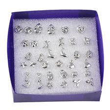 Lovely Lots of 18 Pairs Silver Mixed Styles Women's Girls Ear Stud Earrings Hot