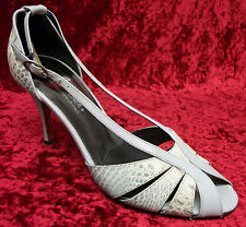 DONALD PLINER White 'Zoom' Alligator Size 8 Heels Pumps or Shoes