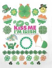 FOUR LEAF CLOVER, KISS ME I'M IRISH MANY TATS ON ONE SHEET temporary Tattoo