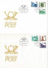 EAST GERMANY DEUTSCHE POST 1990 TOURIST SIGHTS SET OF 9 ON 3 x FIRST DAY COVERS