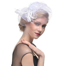 Women Feather Headwear Fascinator Hair Clip Party Wedding Bridal Birdcage Hat