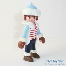 Playmobil     City life - Figure - Lady,Brown Hair in Winter Hat & Gloves - NEW