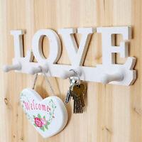 Love Crochet Porte Manteau Vêtements Robe Porte-Clés Décoration Murale Maison