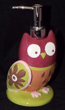 Essential Home Owl Ceramic  Lotion / Soap Dispenser