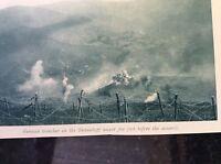 m17c8 ephemera ww1 picture german trenches braunkopf under fire