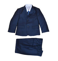 Blue 5 Piece Boy Suits Boys Wedding Suit Page Boy Party Prom 2-15 Years