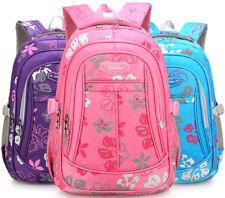 Girl's Waterproof School Bag Floral Print Backpack Primary Student Kid Grade1-6