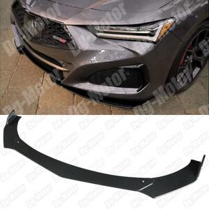 Front Lip Splitter Spoiler Bumper Valance Apron Canard Body Kit For Acura TLX