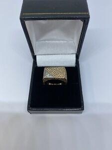 Heavy Rose Gold Mens Diamond Ring
