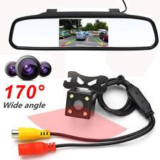 """4.3"""" Car TFT LCD Monitor Mirror + HD CCD Reverse Rear View Backup Camera Canada"""