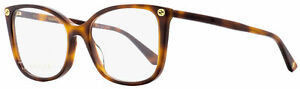 Gucci Butterfly Eyeglasses GG0026O 002 Havana 53mm 0026