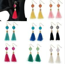 2 Pairs Women Fashion Long Tassel Earring, Druzy Jewelry, Gold Druzy Earrings