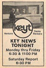 1979 KEYT TV  AD~KEY NEWS TONIGHT in SANTA BARBARA & VENTURA,CALIFORNIA