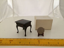 1/12 SCALE END TABLE WITH DRAWER NEW OLD STOCK IN ORIGINAL BOX DOLLHOUSE