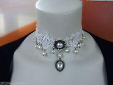 Markenlose Bronze Modeschmuck-Halsketten & -Anhänger aus Perlen für Damen