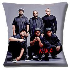 "NEW NWA AMERICAN HIP HOP GROUP GANSTA RAP PHOTO PRINT 16"" Pillow Cushion Cover"