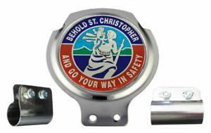 Scooter Bar Badge - St Christopher - FREE BRACKET & FIXINGS