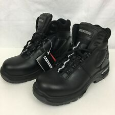 "Converse Boots Womens 7.5"" Black Leather Composite Toe Athletic Work Safety"
