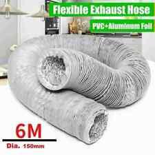 Abluftschlauch 6 m Ø150mm  PVC Schlauch flexibel für Trockner Klimaanlage DHL