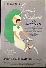 """FETES DE PARIS """"JOURNEE MONDAINE DE LA BICYCLETTE"""" 1949"""