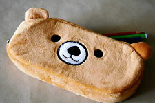 Cute Plush Brown Bear  Pencil Case, Rilakkuma, Pouch Small Bag Pen Pencils
