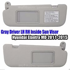 852103X000TX 852203X000TX Driver LH RH Sun Visor Gray 2P Elantra MD  2011-2015 9cae7c3422f