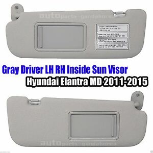 852103X000TX 852203X000TX Driver LH RH Sun Visor Gray 2P Elantra MD 2011-2015