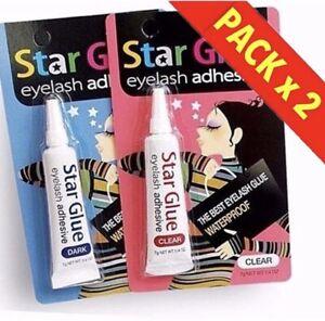 Star Glue Eye Lash Lashes Best Adhesive Waterproof Long Lasting X 2 Strong!