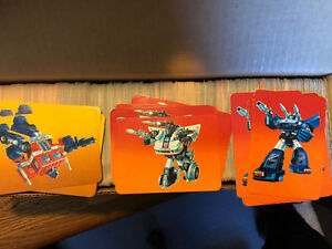 1985 Hasbro Transformers NM Trading Cards  FINISH YOUR SET Singles 1-189