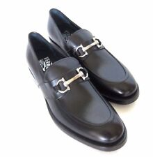 W-1586238 New Salvadore Ferragamo Siracusa 2 Black Leather Loafer US Size 8.5