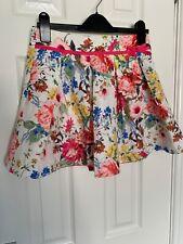 Monsoon Niñas Jacquard Floral Falda de la edad de 9-10 años