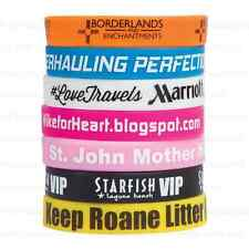 100 Silicone Silkscreened Wristbands  Personalized for Teams, Campaigns, & More!