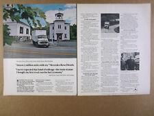 1978 Mercedes Diesel Trucks Frankfort Maine Post Office photo vintage print Ad