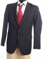 Strellson Sakko Jacket Rick-James Gr.46 schwarz uni Einreiher 2-Knopf -S784